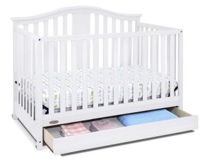 Graco Solano 4-in-1 Convertible Crib with Drawer, White